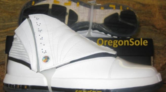 6a1f15c4b727 Air Jordan 16 Retro - White University Gold-Black - 2012 Unreleased Sample