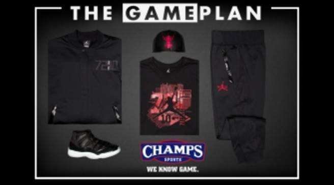 best loved c3efc 96db4 The Game Plan by Champs Sports Presents the Jordan  72-10  Collection