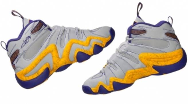 online store c41f8 b9342 Jeremy Lin Brings Laker Colors Back to the adidas Crazy 8