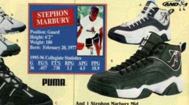 931d176fd Eastbay Memory Lane    AND1 Stephon Marbury Mid – Winter 1996
