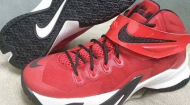 3378c0d4d0aa Nike LeBron Zoom Soldier 8 - Red Black-White