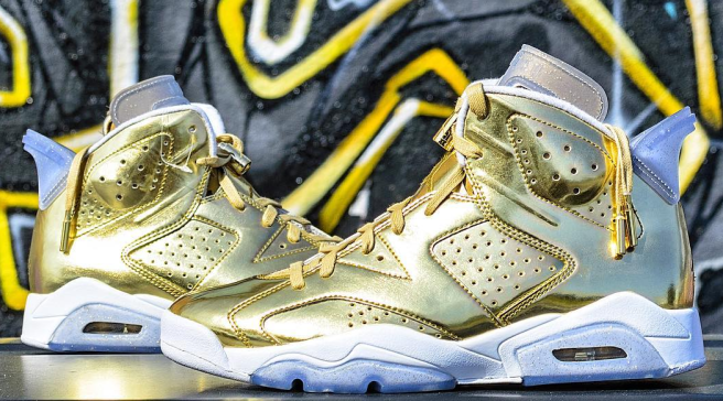 Spike Lee s Crazy Gold Air Jordans Are Up For Sale 1f2634f7d