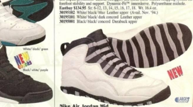 dbc836f6d54 Eastbay Memory Lane    Air Jordan 10  Steel  - Holiday 1994