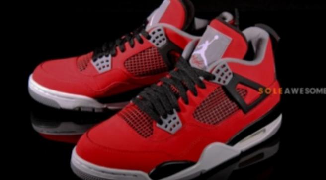the best attitude f7e98 d58ba Air Jordan 4 Retro - Fire Red White-Black-Cement Grey  Nike ...
