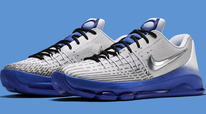 half off e7220 35a66 Shiny Swooshes for Kevin Durant s Nike KD 8