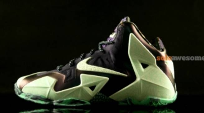 super popular d9335 8319f Nike LeBron 11 AS Cashmere/Green Glow-Purple Dynasty | Nike | Sole ...