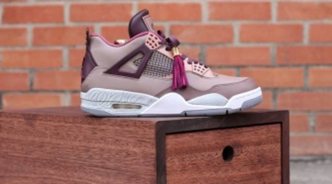 1eef825a0a16f1 Dank Remade the  Louis Vuitton Don  Air Jordan 4 for Wale