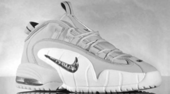 buy popular 5dfd3 01f3d Nike Air Max Penny Wolf Grey Black-White. By Sole Collector