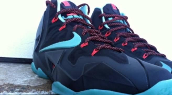 8c610f6b92486 Nike LeBron 11 Black Crimson-Jade Releasing at Eastbay