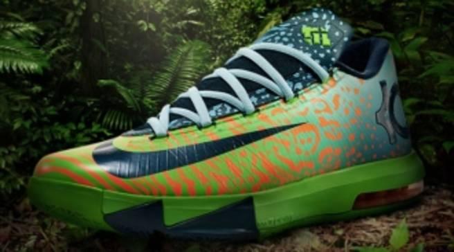Nike KD VI Electric Green Night Factor-Atomic Orange  ce900d999fc5