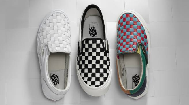 d53eb83d1c Vans Rebuilds Iconic Checkered Sneakers With Woven Leather