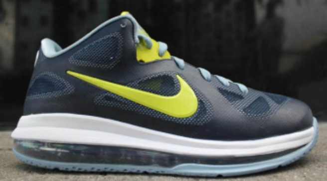 199af2a75fd3 Nike LeBron 9 Low - Obsidian Cyber-White-Blue Grey