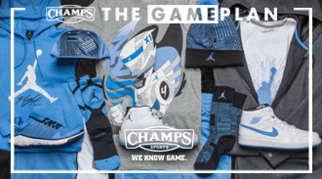 bf8f44beda490 The Game Plan by Champs Sports Presents the Jordan Legend Blue Collection