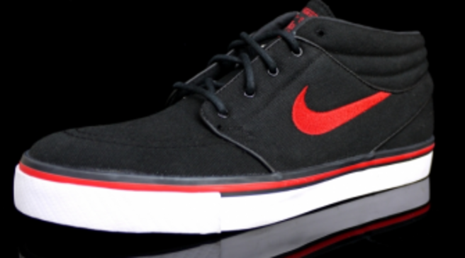 7ce8edf3260a Nike SB Stefan Janoski Mid - Black Sport Red - Summer 2012