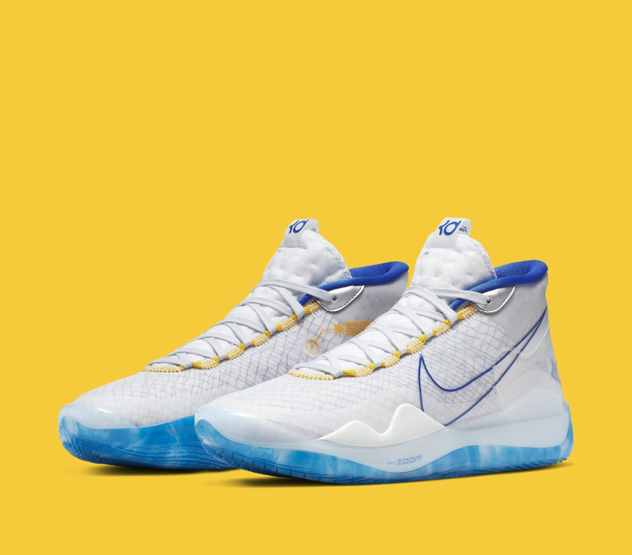 best service 36ea6 bf1e1 This Nike KD 12 Is Dressed in Warriors Colors