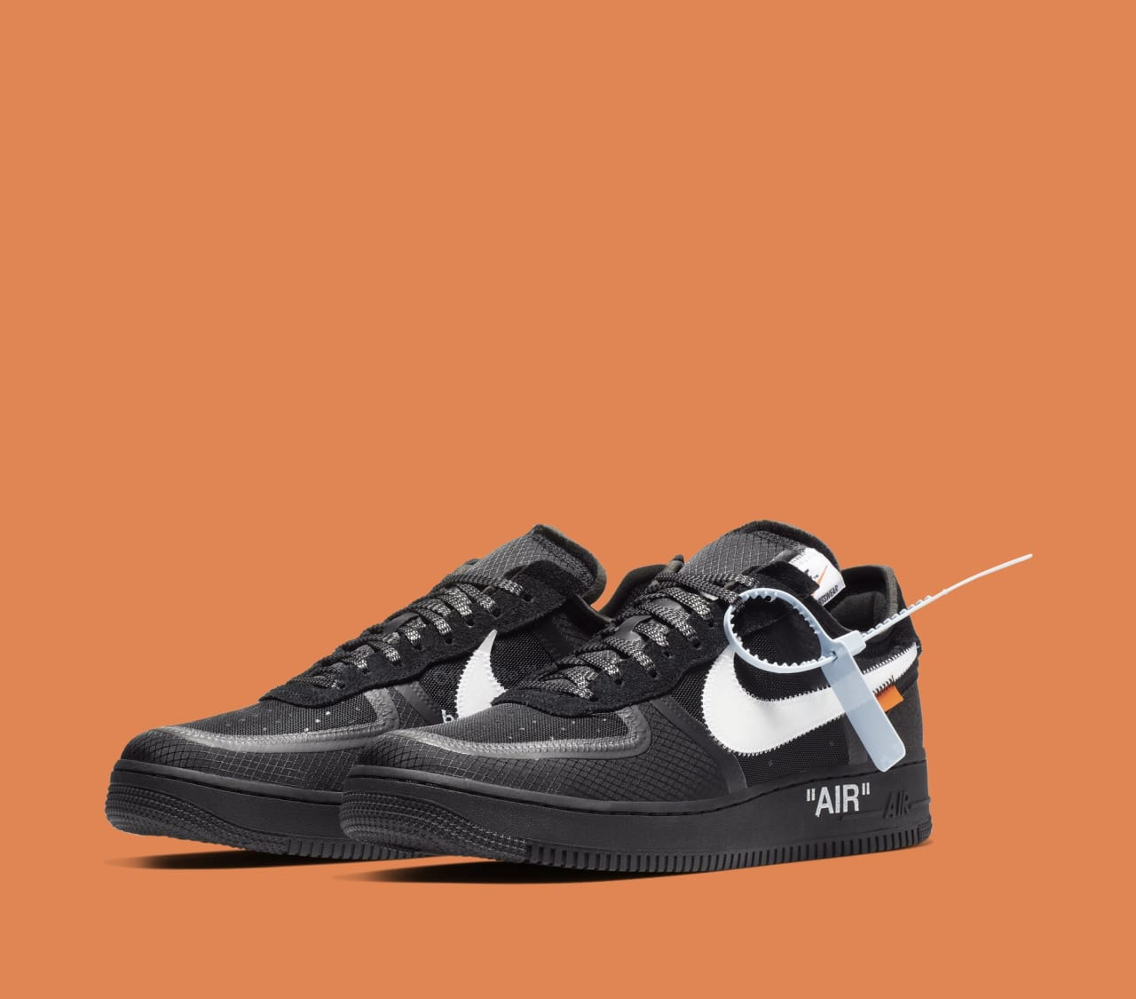 aaef5e7d23 Off-White x Nike Air Force 1 Low 'Black/White' AO4606-001 Release ...