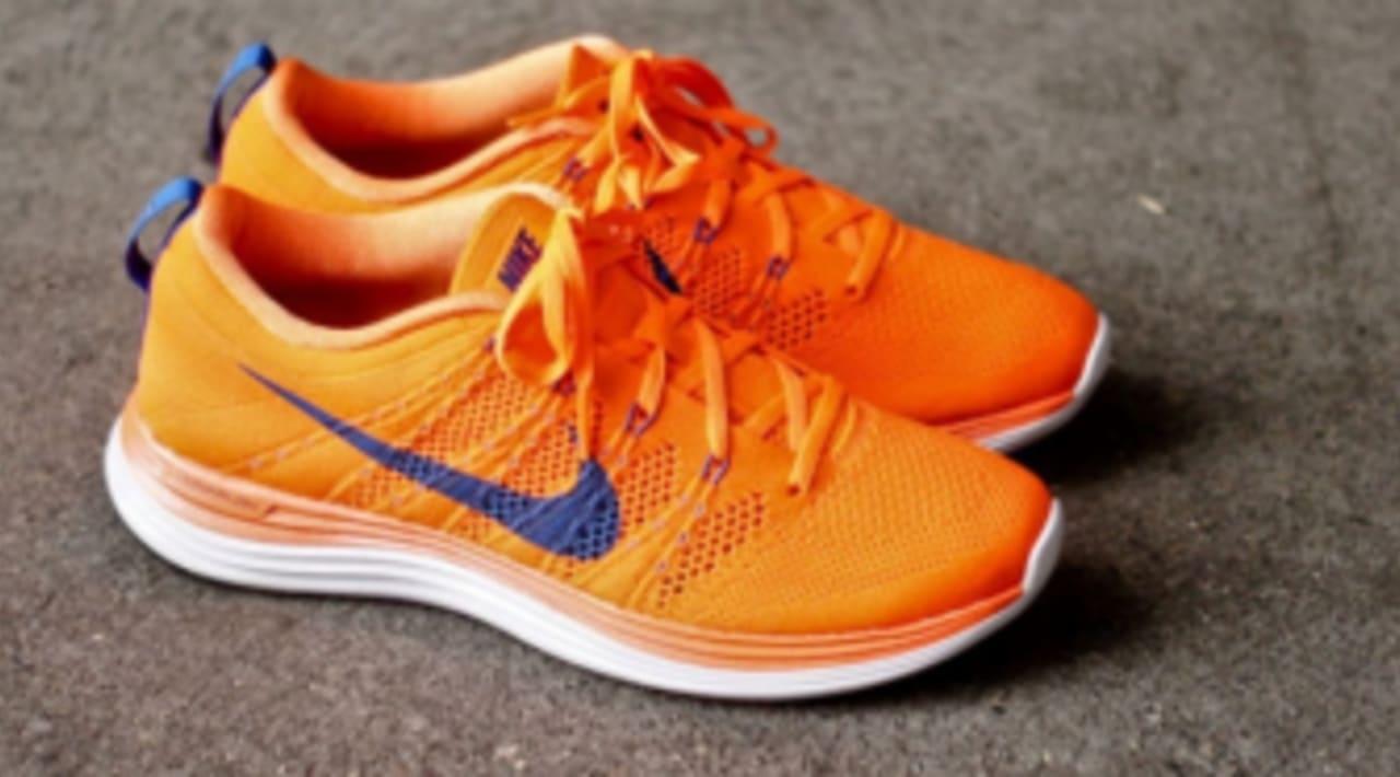 Nike LunarGlide 6 WeißTotal orangePeach Creamschwarz