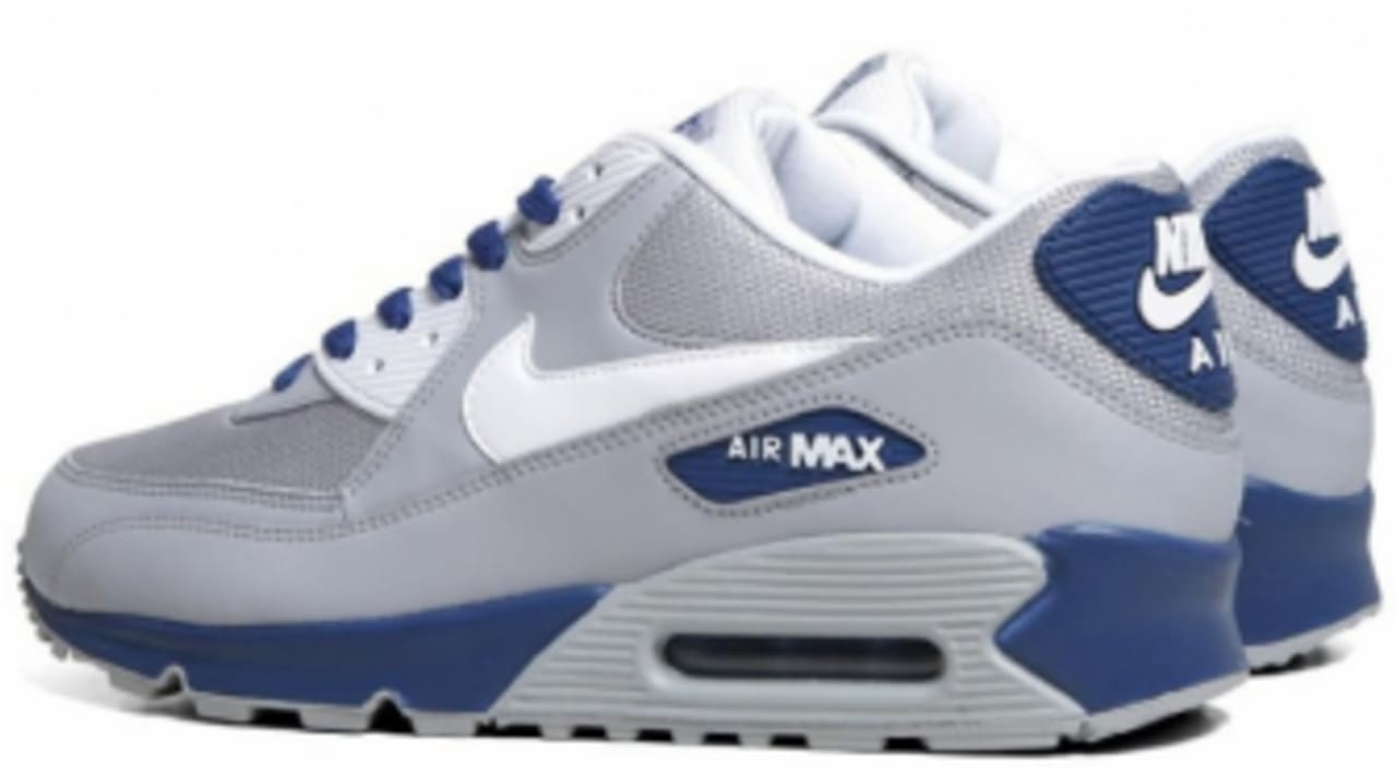 Nike Air Max 90 Essential Wolf GreyDark Royal Blue | Sole