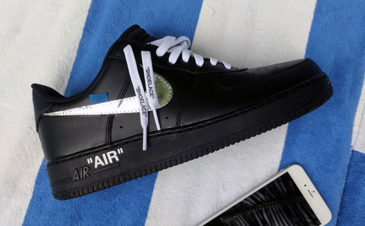 the pair of Nike x Off White Air Force 1 Low Virgil Abloh