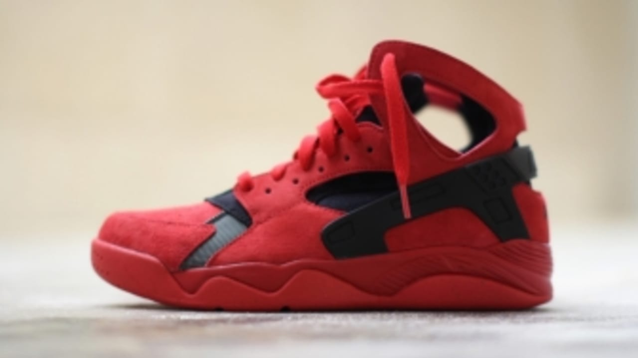 red and black high top huaraches
