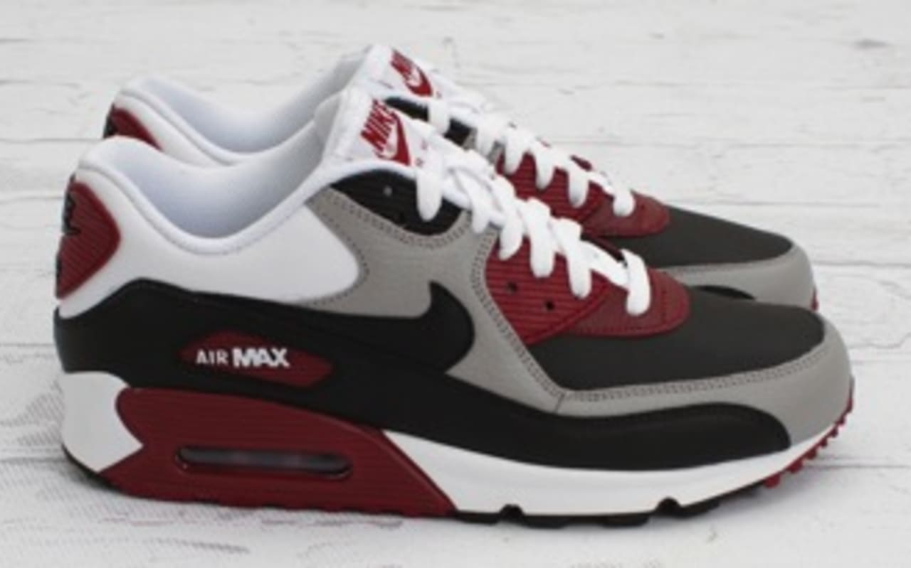 Nike Air Max 90 Neutral Grey Team Red Sole Collector
