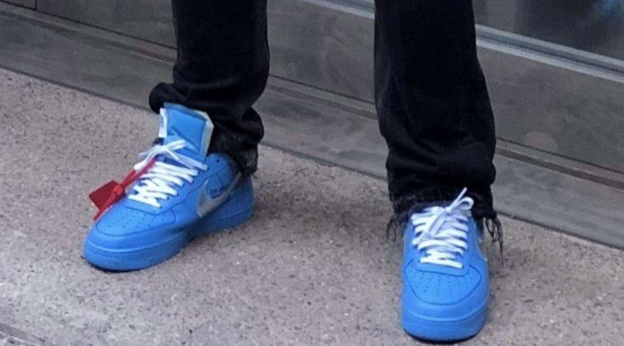 Nipsey Hussle Blue Air Max 90 or Air Force 1 Drip Sneakers