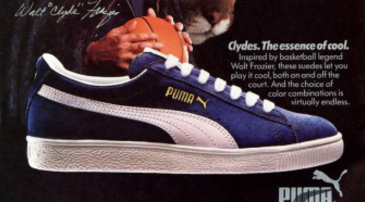 newest f313a 31954 Vintage Ad: PUMA Clyde | Sole Collector