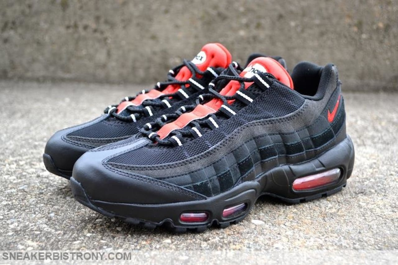 brand new c2a2c 61d3c Nike Air Max 95 Essential Black/Challenge Red | Sole Collector