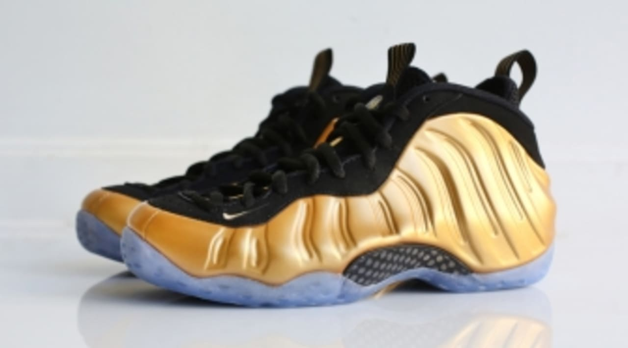 Nike Air Foamposite One PRM USA Obsidian Gold Olympic ...
