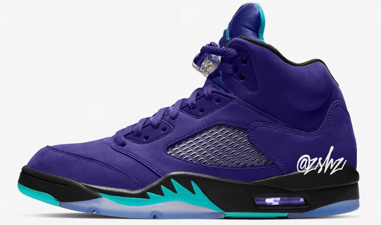 a31ed2094e3764 Air Jordan 5  Grape Ice  Grape Ice Black-Clear-New Emerald 136027-500  Release Date