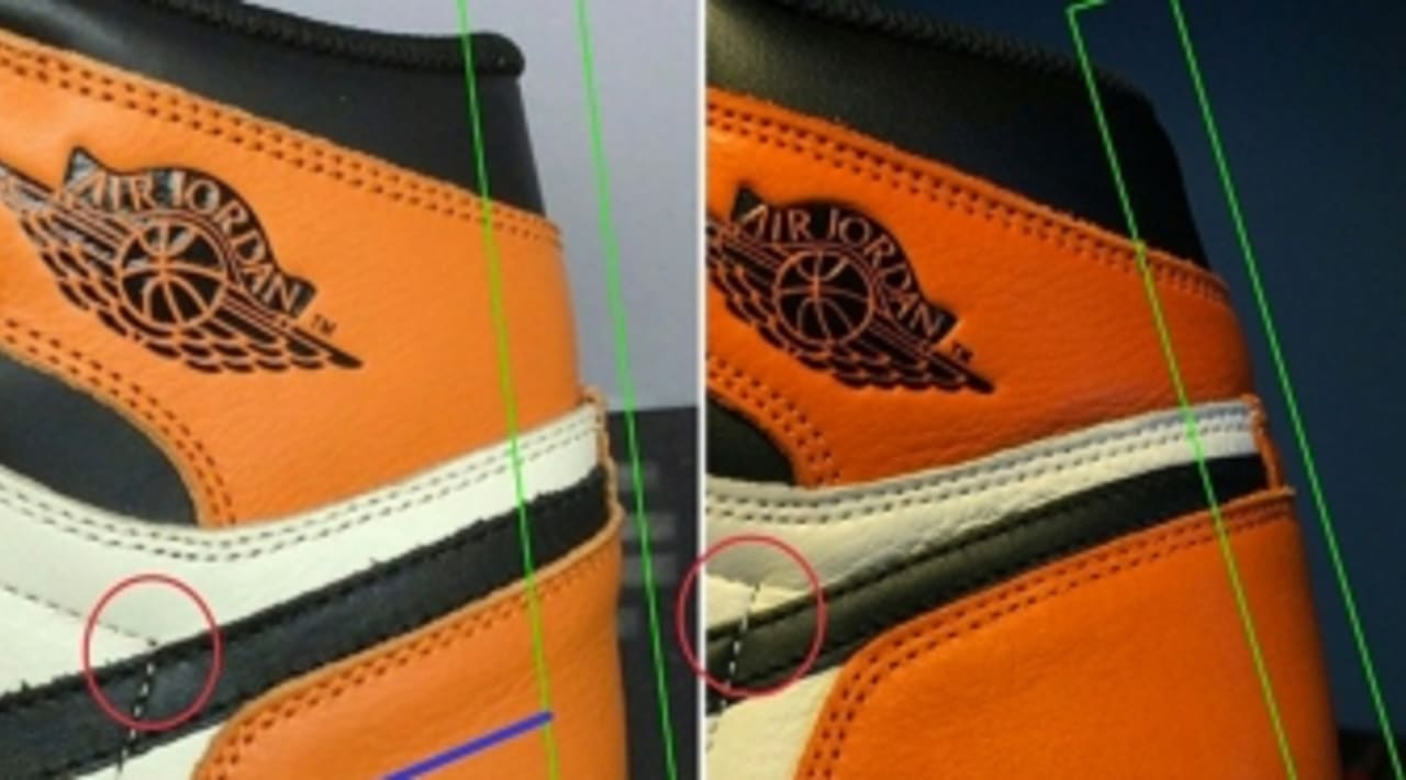 ca58c6ef9e5b How To Tell If Your 'Shattered Backboard' Air Jordan 1s Are Real or Fake |  Sole Collector