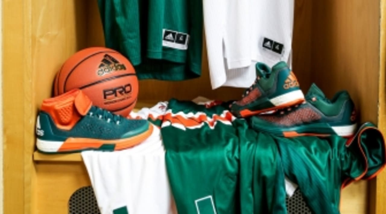 d637c37a217 adidas Gave the Miami Hurricanes Their Own Crazylight Boost Sneakers ...
