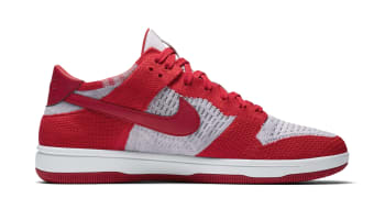 Nike Dunk Low Flyknit University Red Wolf Grey