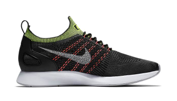 Nike Flyknit Racer Black Wolf Grey Volt