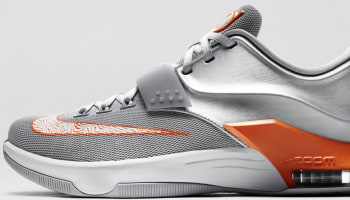Nike KD VII Metallic Silver/Urban Orange-Wolf Grey