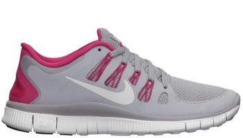 Nike Free 5.0+ Women's Wolf Grey/Pink Force-White