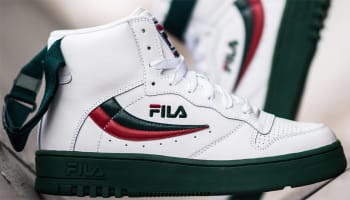 Fila FX-100 White/Dark Green-Jester Red