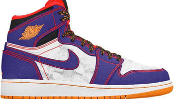 Air Jordan 1 Retro High GS Court Purple/Black-Bright Crimson-White