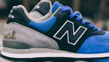 New Balance 574 Blue/Black-Grey