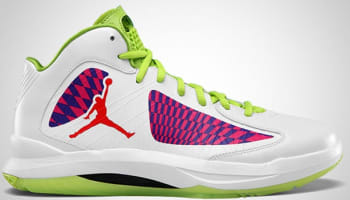 Jordan Aero Flight White/Challenge Red-Court Purple-Atomic Green