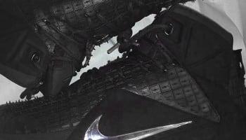 Nike LeBron 12 EXT QS Black/Chrome