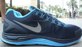 Nike Lunarglide+ 4 Midnight Navy/Reflective Silver-Blue Glow