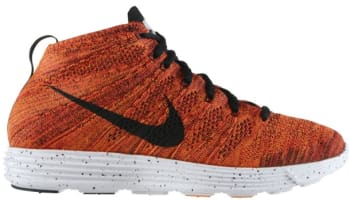 Nike Lunar Flyknit Chukka Bright Crimson/Black-Total Orange-White
