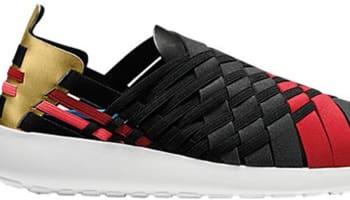 Nike Roshe Run Woven 2.0 N7 Women's Black/Anthracite-Metallic Gold-University Red