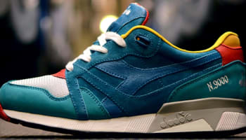 Diadora N.9000 Teal Green/Tomato Red-Cobalt Yellow