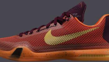 Nike Kobe X Merlot/Metallic Gold-Villain Red-Total Orange