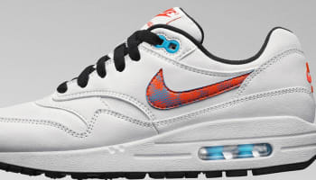 Nike Air Max 1 GS White/Orange-Blue