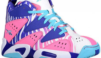 Reebok Kamikaze I Mid Girls Electro Pink/Ultima Purple-White-Neon Blue
