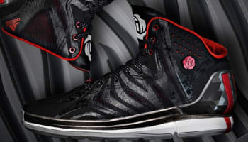adidas Rose 4.5 Black/Running White-Light Scarlet