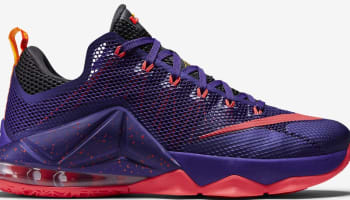 Nike LeBron 12 Low Court Purple/Bright Crimson-Cave Purple-Laser Orange